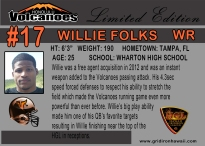 Willie Folks Player Card