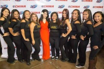 HGL Dance Team and Jasmine Trias at 2013 AFL All Star Game