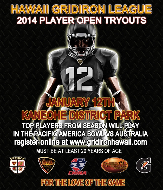 HGL 2014 Players Tryouts January 12th Kaneohe District Park