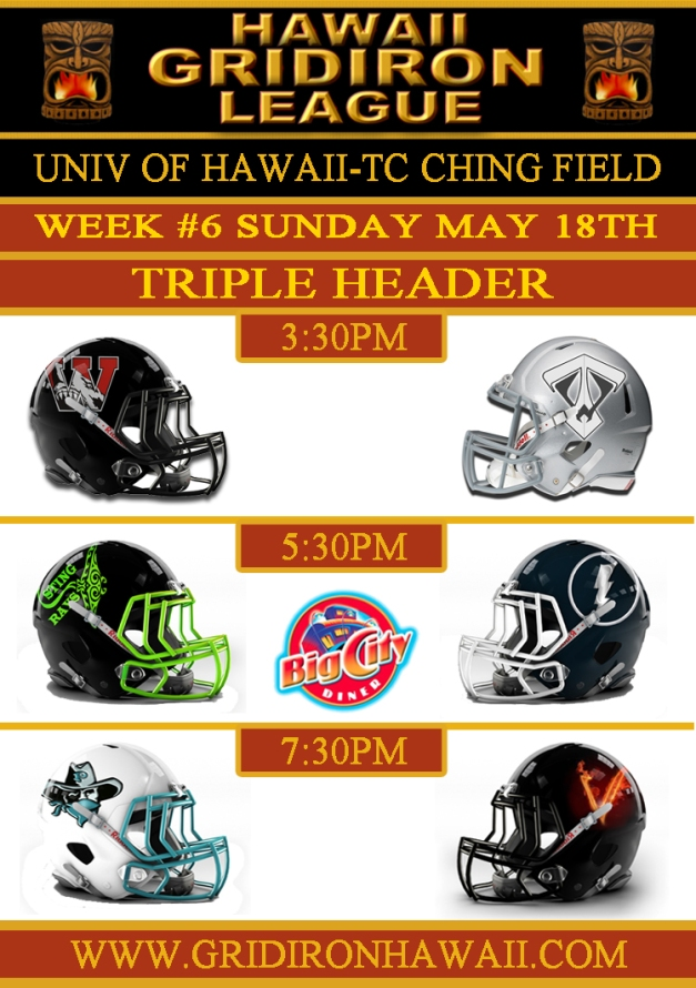HGL Week 6 Game Flyer