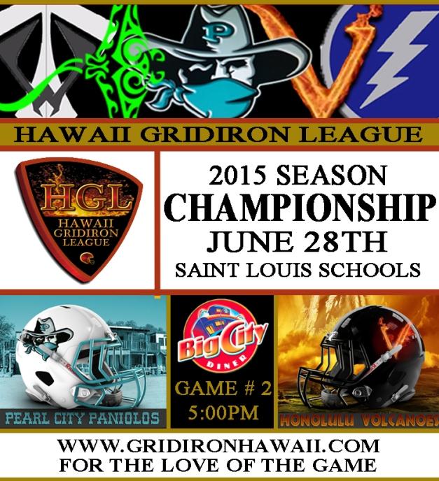 2015 HGL Championship Game Flyer